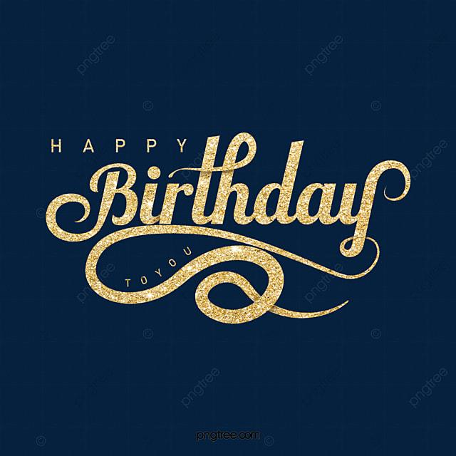 golden shiny birthday wishes art word