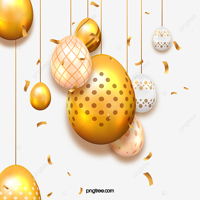 golden textured easter eggs