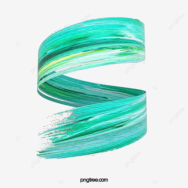 green 3d rotating brush