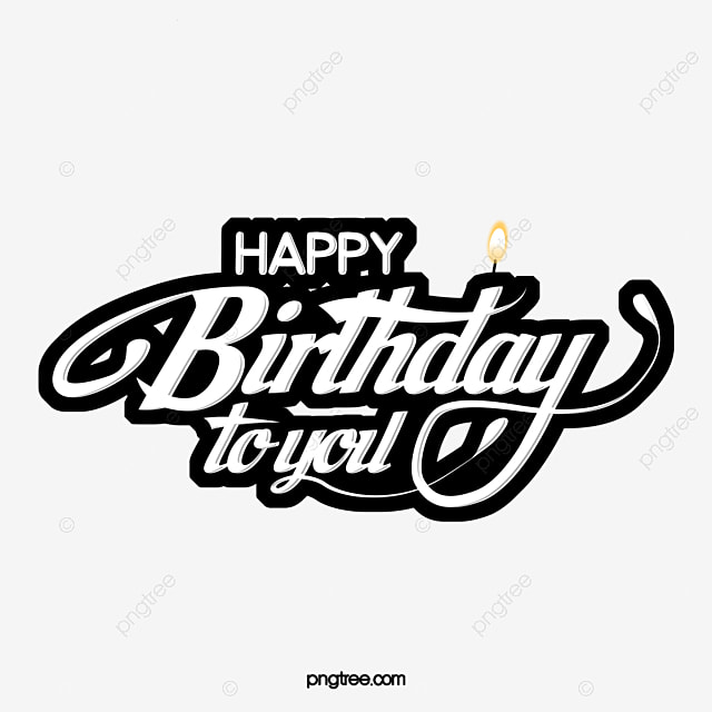 hand drawn celebration birthday font