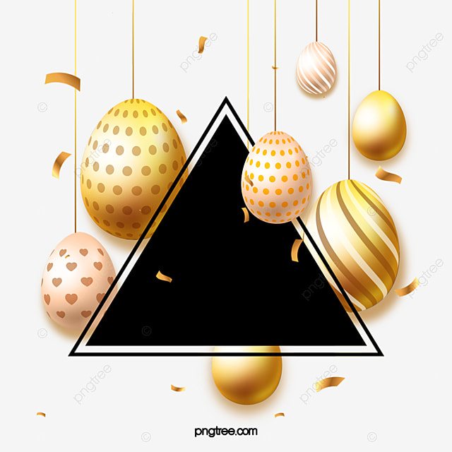 hand drawn easter stylish golden egg