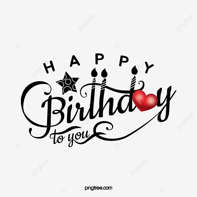 happy birthday lettering design
