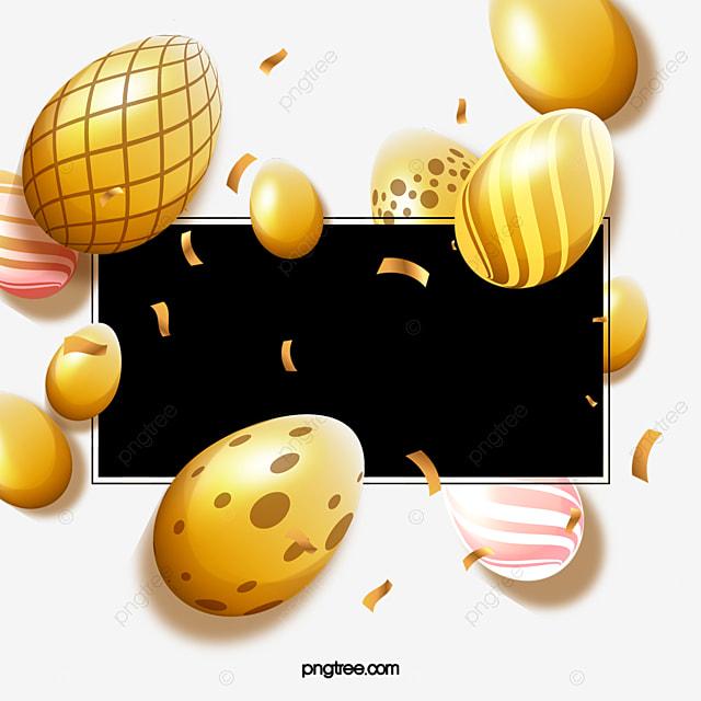 happy easter golden egg decoration