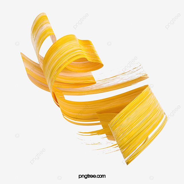 yellow 3d stereo brush