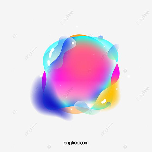 color gradient geometric bubble element
