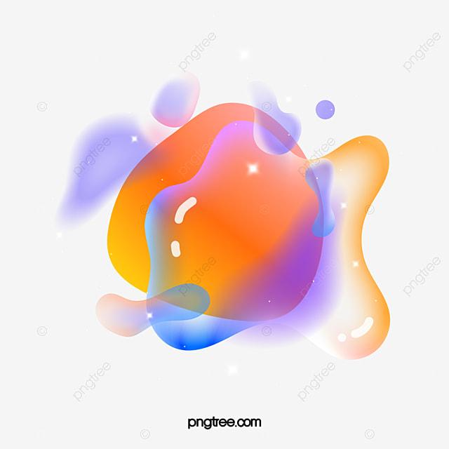 colorful geometric floating bubble element