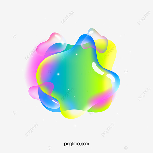colorful irregular graphic floating bubble element
