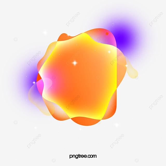 fantasy fluid gradient bubble geometric element