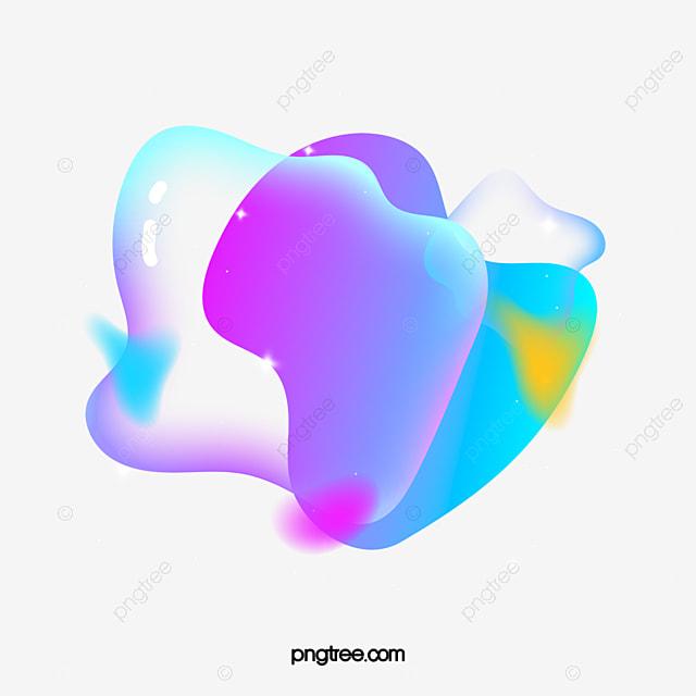 gradient fantasy fluid bubble geometric element