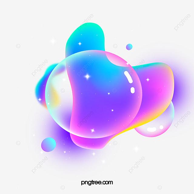 irregular graphic floating bubble element
