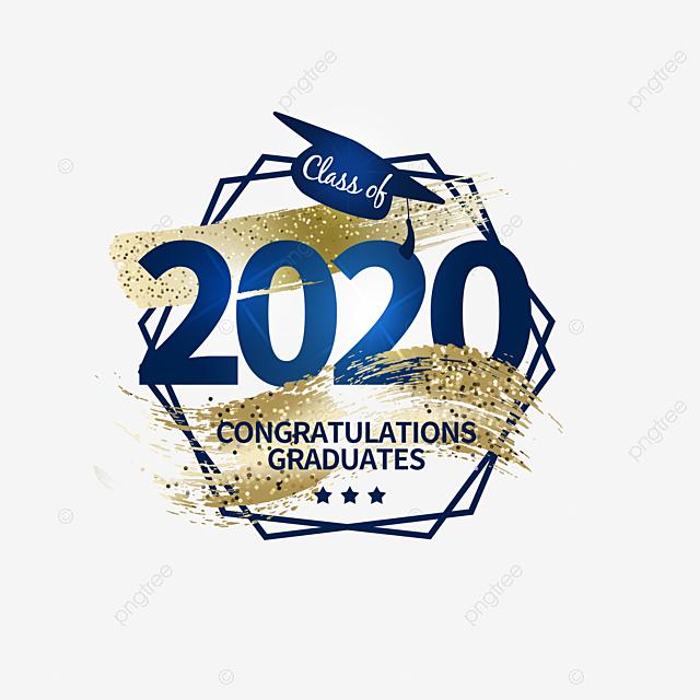 2020 creative texture classic graduation logo