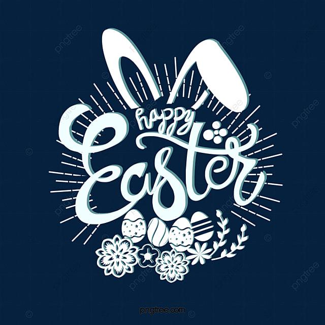 easter celebration bunny decorative font