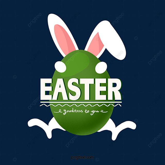 easter eggs rabbit ears happy holidays
