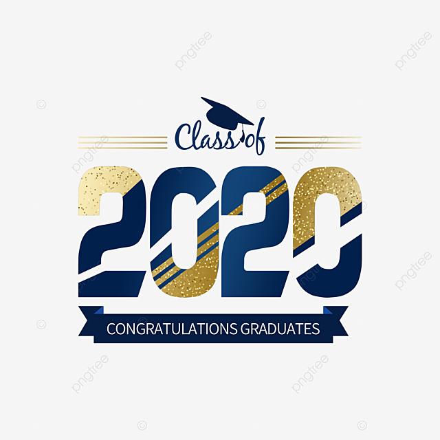 golden texture creative 2020 graduation element
