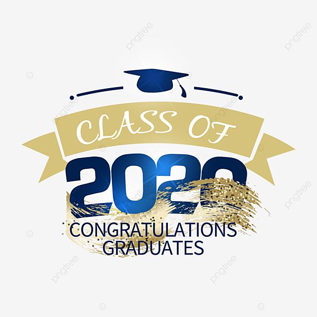 golden texture creative 2020 graduation label