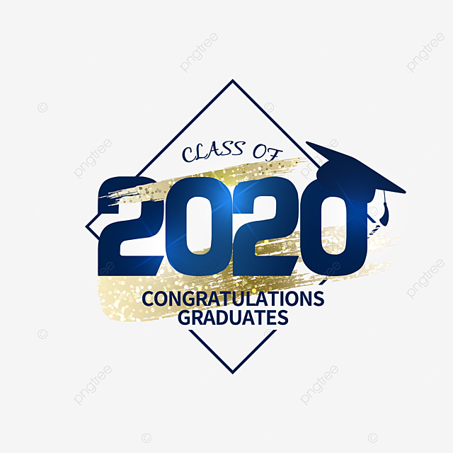 square creative texture 2020 graduation element