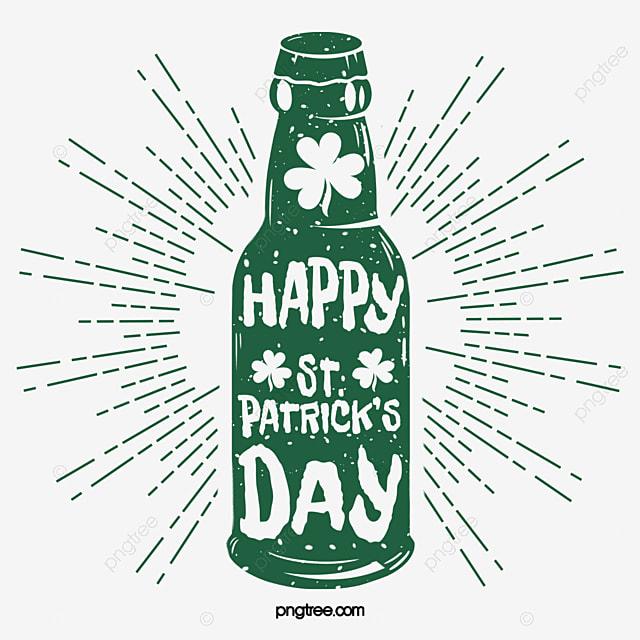 st patricks day beer green logo