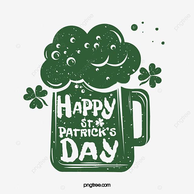 st patricks day shamrock green logo