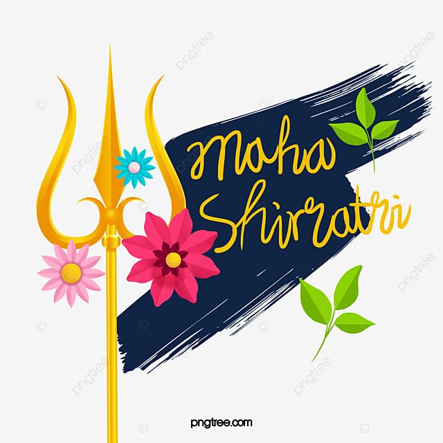 hand drawn shiva day decoration