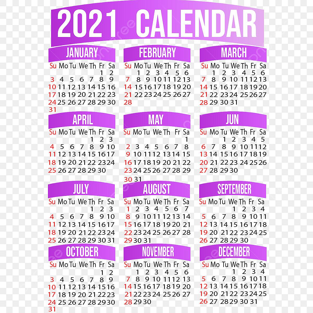 Arrière Plan Du Modèle De Conception De Calendrier 2021, Design