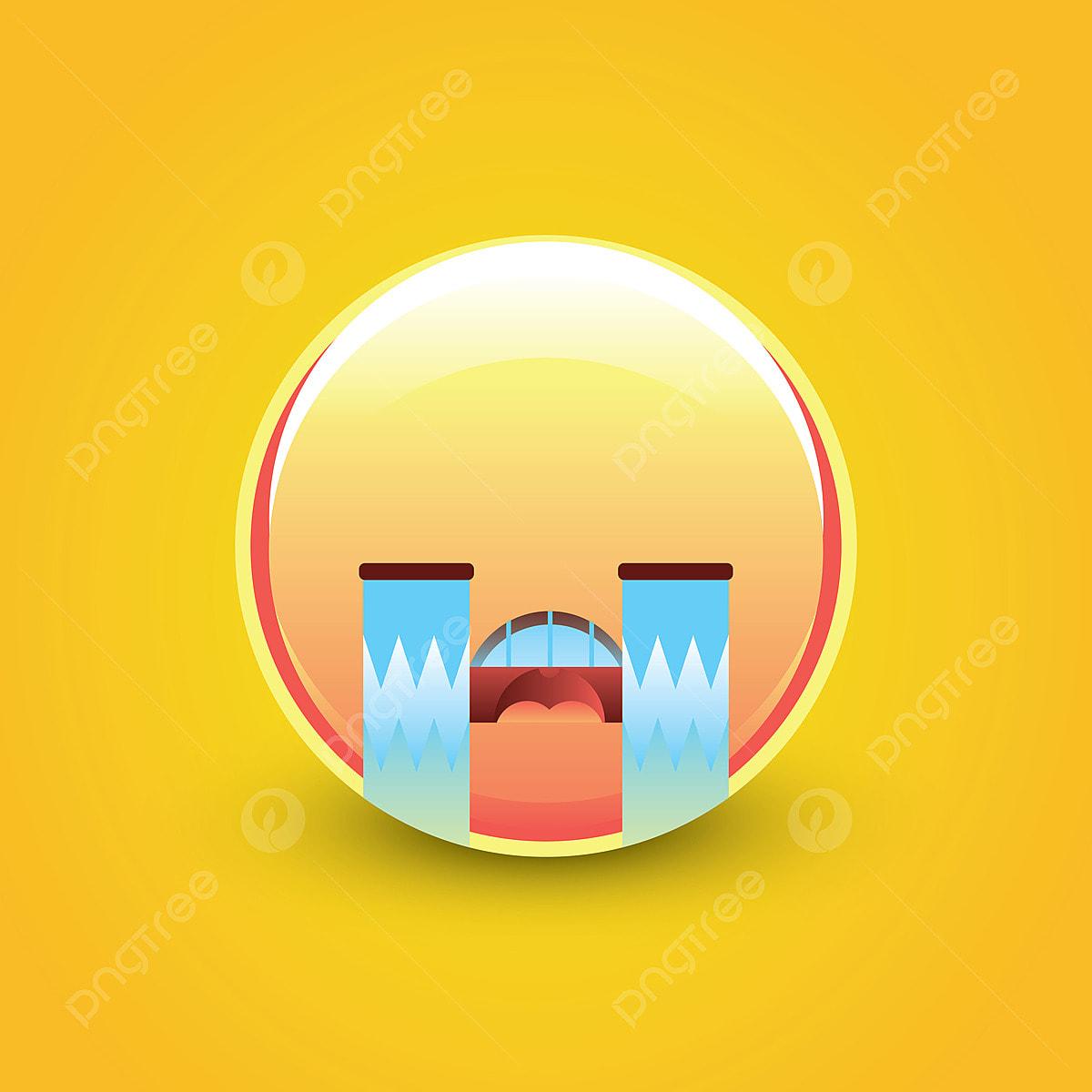 حزين يبكي التعبيرات وجه مبتسم شخصية حرف توضيح سعيدة Png والمتجهات للتحميل مجانا