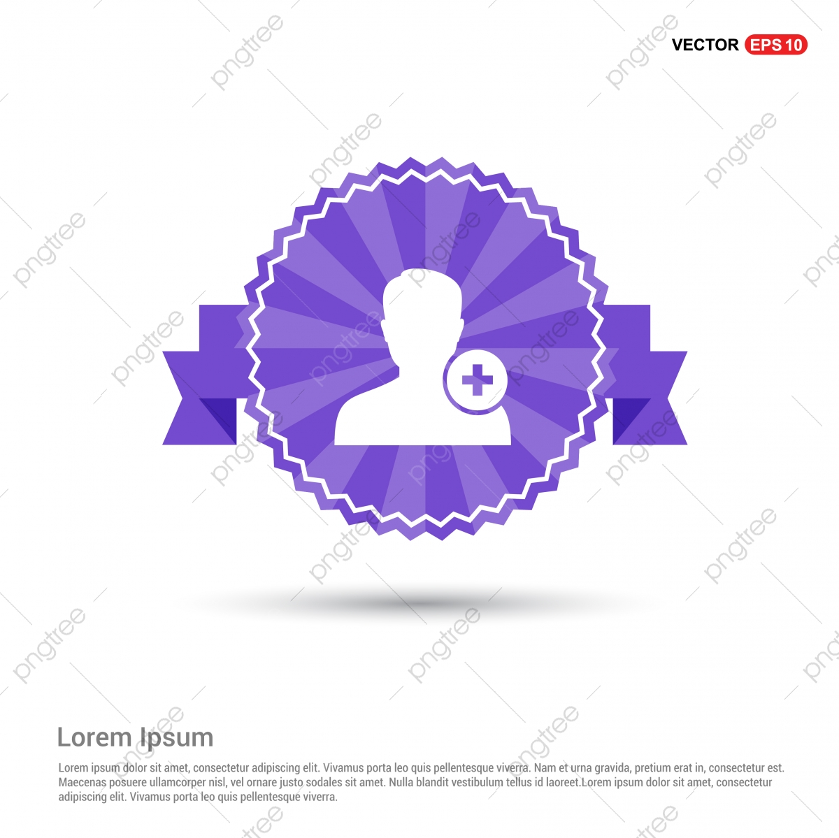 Add User Icon Purple Ribbon Banner User Icons Add Icons Banner Icons Png And Vector With Transparent Background For Free Download