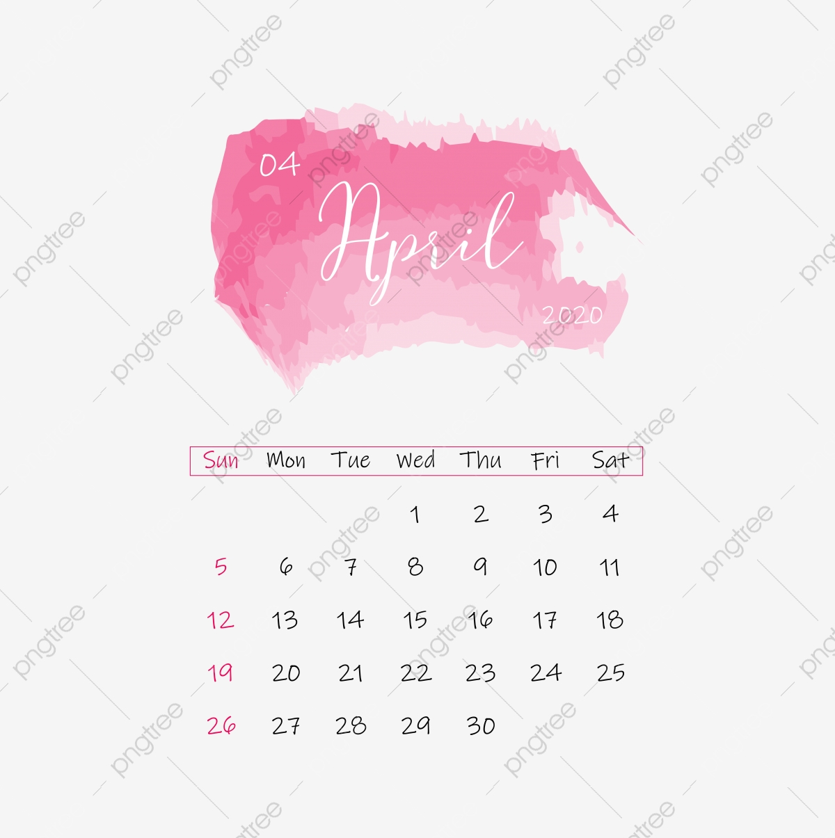 2020 Calendar Png Images Vector And Psd Files Free Download On