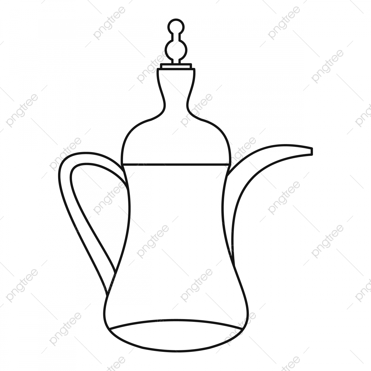 Arabic Coffee Pot Png Vector Psd And Clipart With Transparent Background For Free Download Pngtree