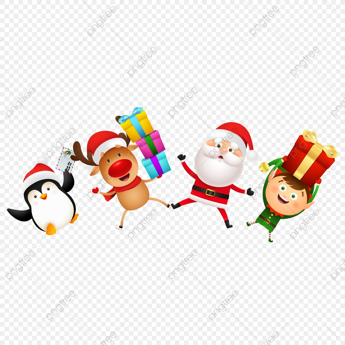 Christmas Characters Celebrations Png