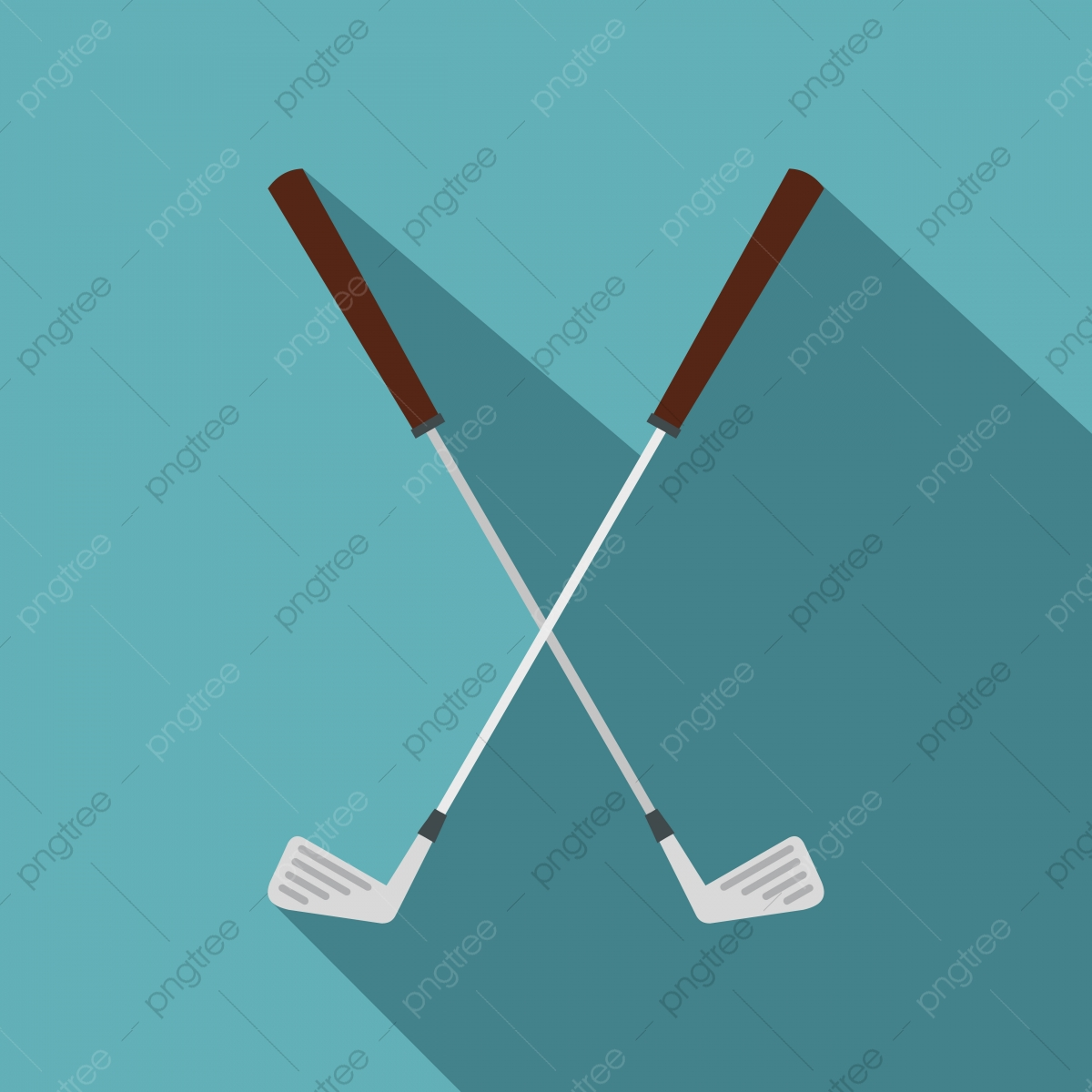 Crossed Golf Clubs Icon Flat Style Style Icons Golf Icons Club Png And Vector With Transparent Background For Free Download