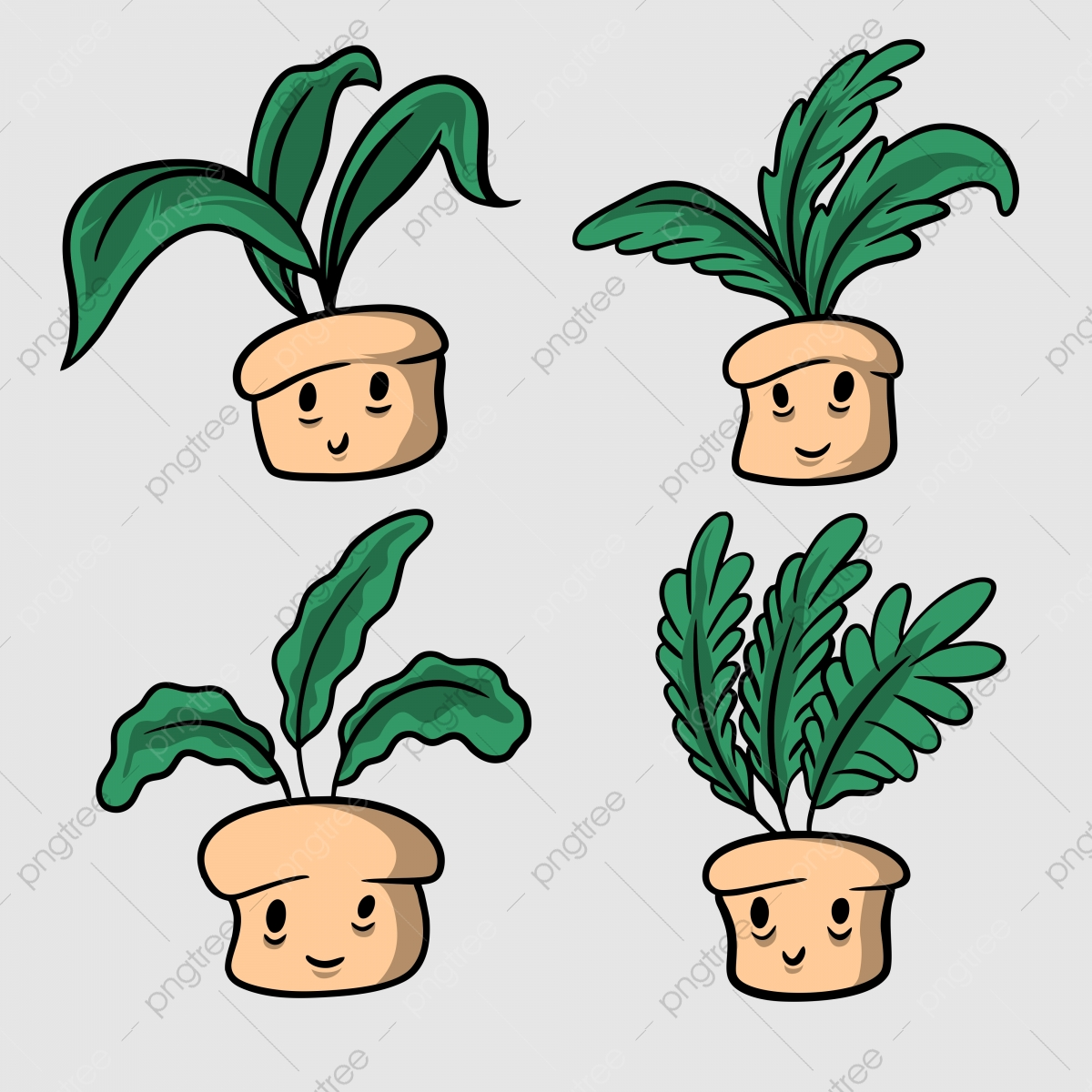 Cute Plant Illustration Hand Drawn Style Art Background Botanical Png And Vector With Transparent Background For Free Download