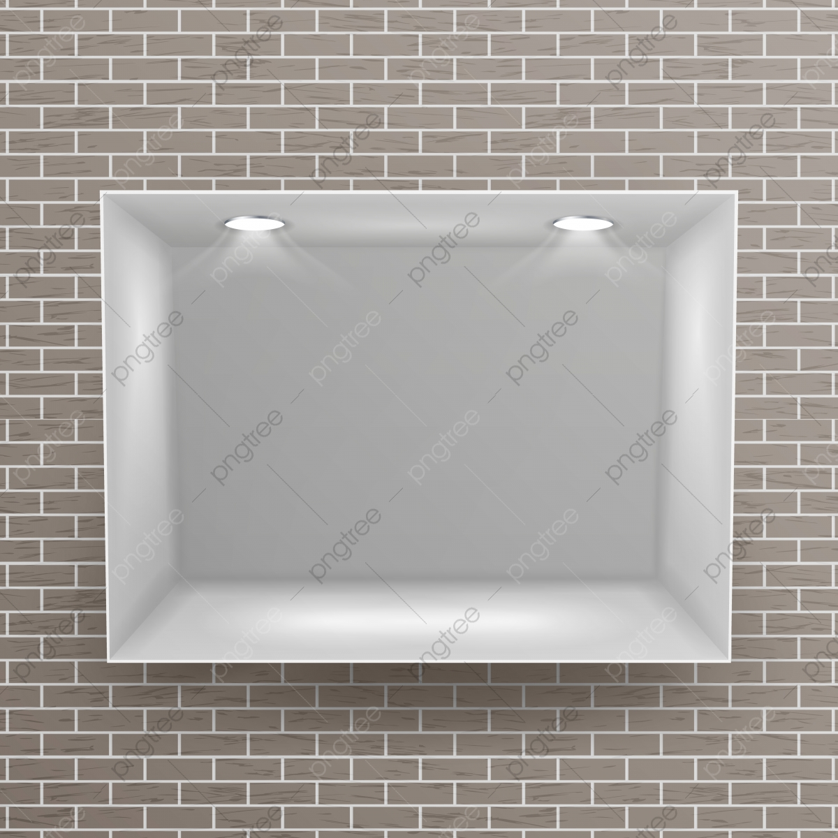 Etagere Sur Mur En Brique niche vide vecteur réaliste mur de briques nettoyer étagère