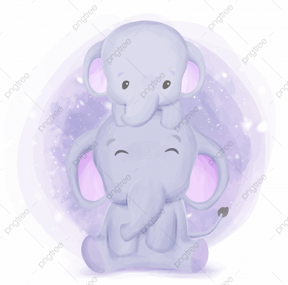 Happy Life Of Elephant Family Adorable Animal Art Png And Vector With Transparent Background For Free Download White elephant, traditional wind pattern elephant family name. https pngtree com freepng happy life of elephant family 5241885 html