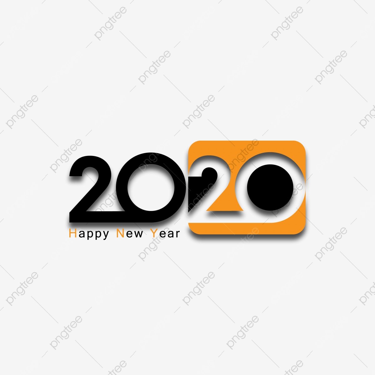 Happy New Year 2020 Black And Yellow Color Logo Text Design Cover Of Business Diary For 2020 With Wishes Greeting Card Design Business Icons New Icons Logo Icons Png And Vector With