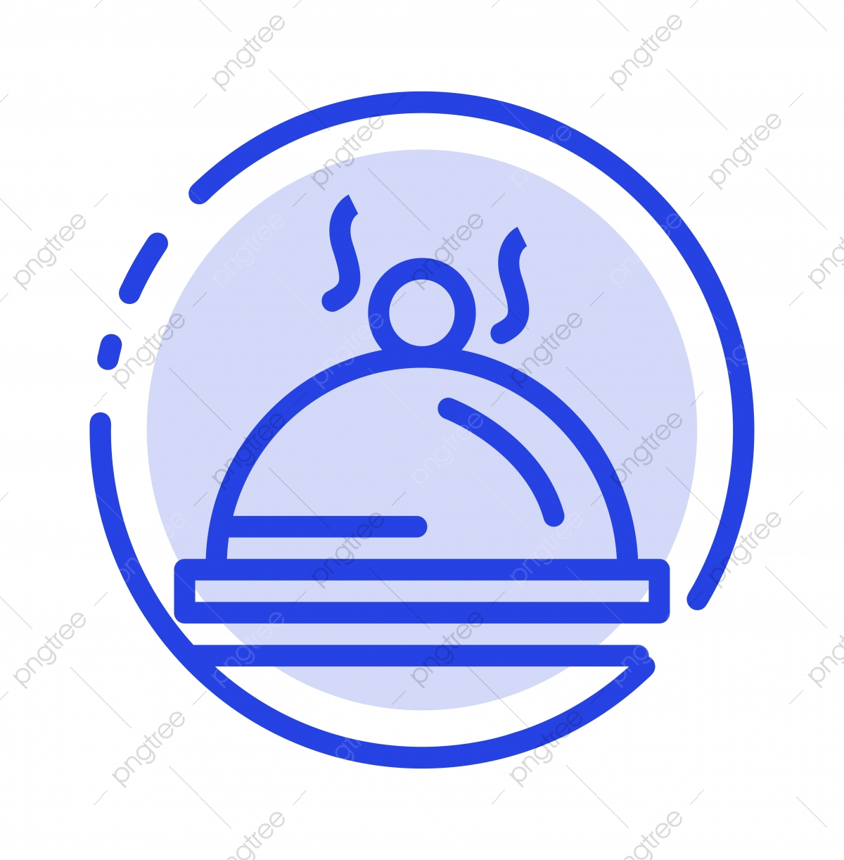 Hotel Dish Food Service Blue Dotted Line Line Icon Food Icons Hotel Icons Service Icons Png And Vector With Transparent Background For Free Download