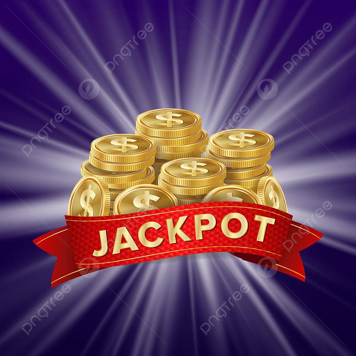 Jackpot Background Vector Golden Casino Treasure Big Win Banner