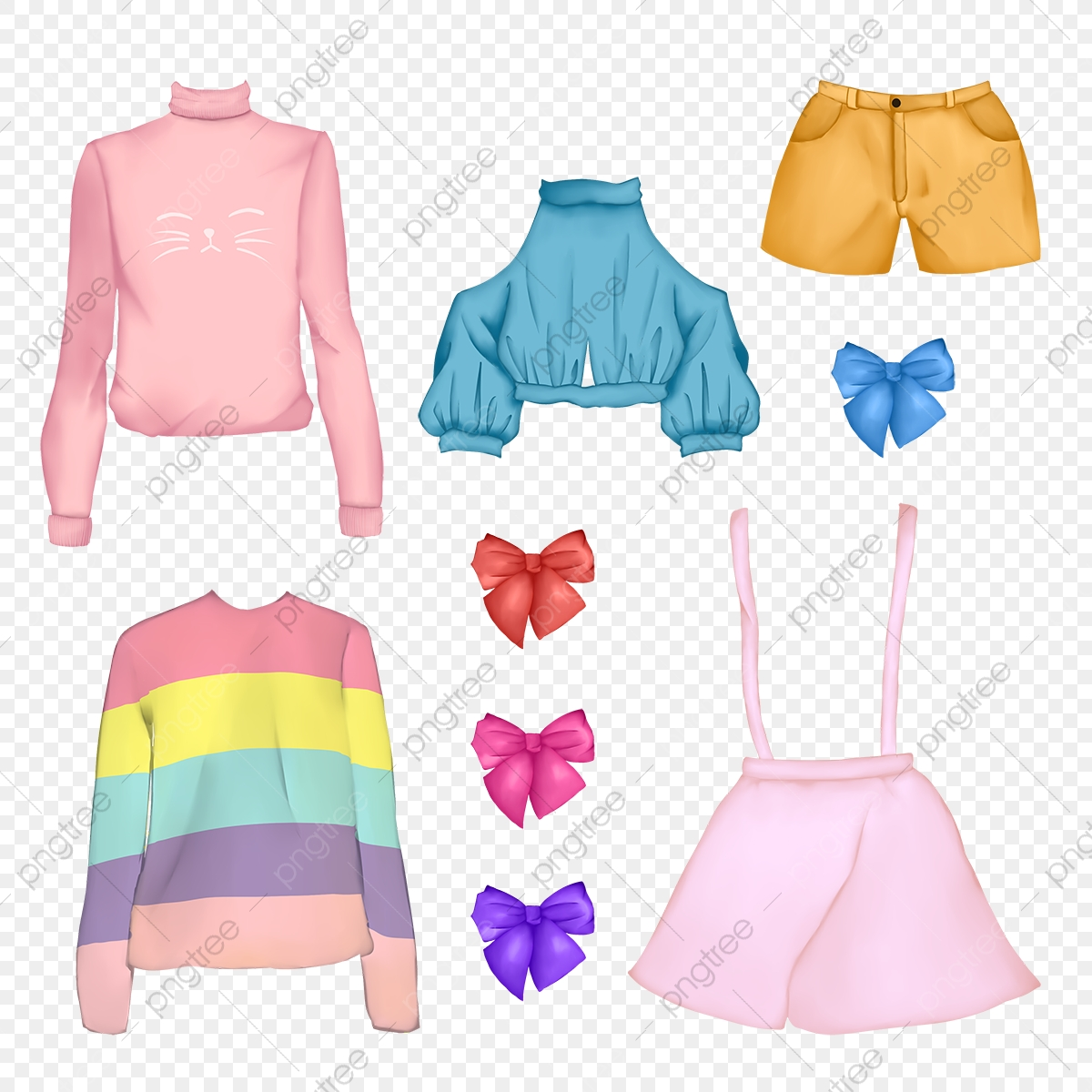 Kawaii Cute Fashion Clothes Japanese Korean Style Pack Cute Kawaii Png Transparent Clipart Image And Psd File For Free Download