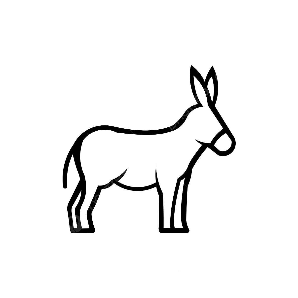 Gambar Garis Keldai Logo Hitam Dan Putih Abstrak Lukisan Keldai Haiwan Comel Ternakan Abstrak Haiwan Seni Png Dan Vektor Untuk Muat Turun Percuma