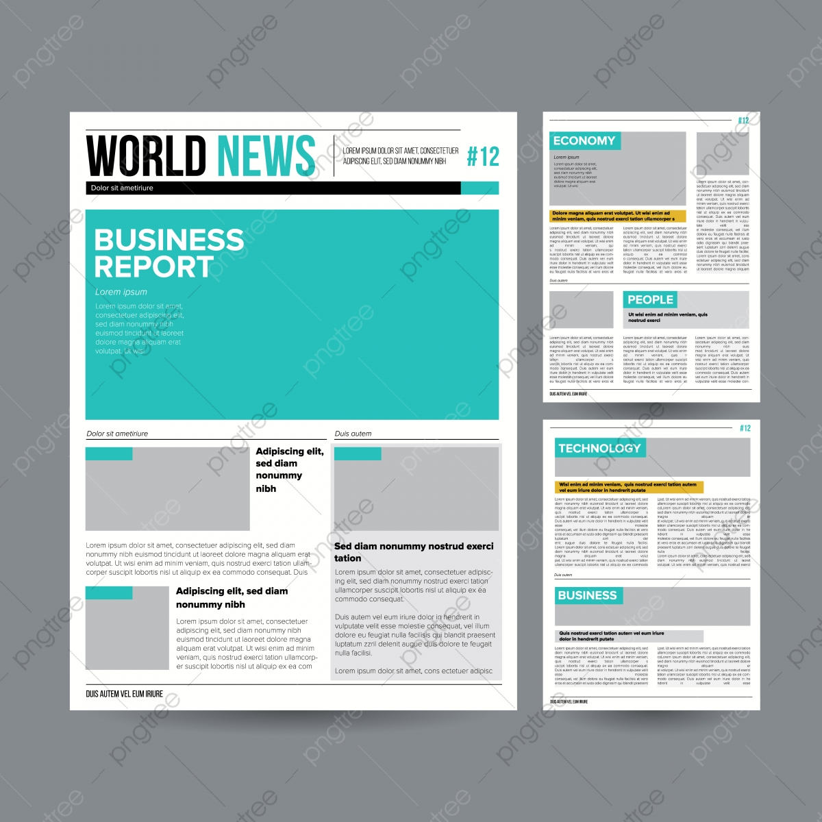 Newspaper Design Template Vector Modern Newspaper Layout Template Financial Articles Business Information World News Economy Headlines Blank Spaces For Images Isolated Illustration Template News Paper Png And Vector With Transparent Background For