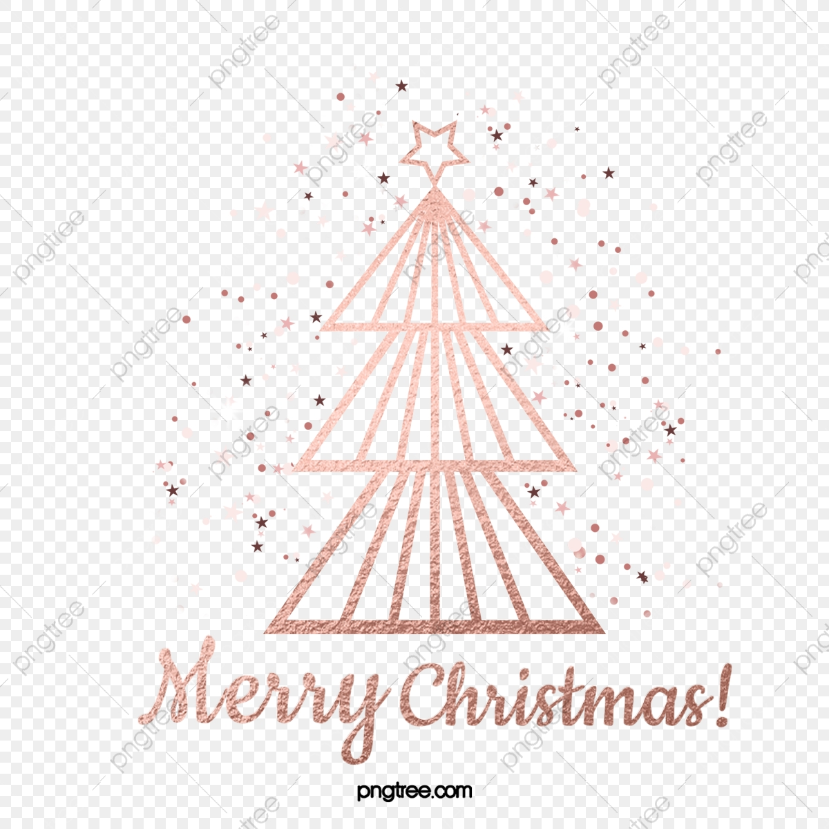 Rose Gold Christmas Tree Stars Shining Decoration Rose Gold New Year Texture Png Transparent Clipart Image And Psd File For Free Download