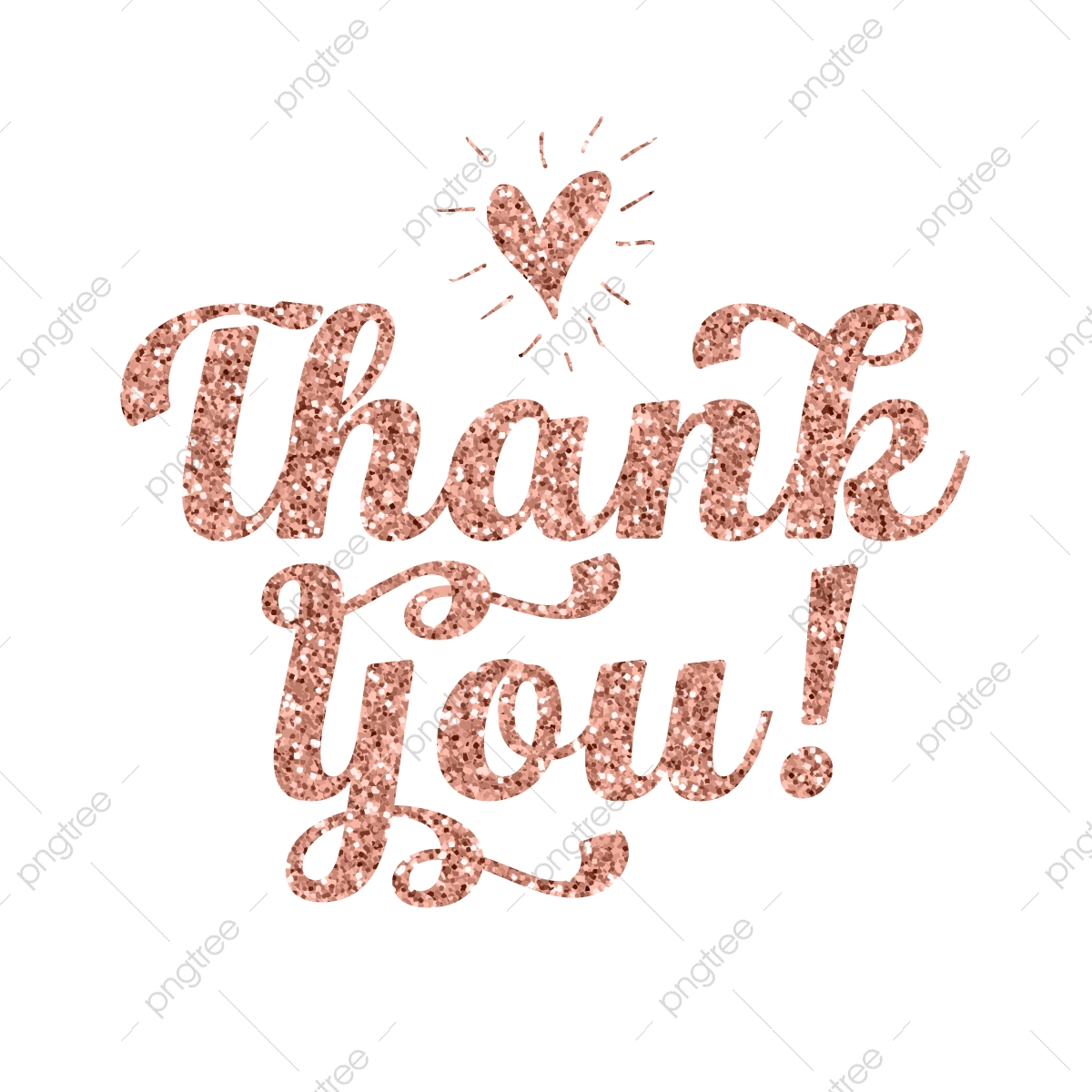 Rose Gold Glitter Thank You Lettering Png Thanksgiving Thank