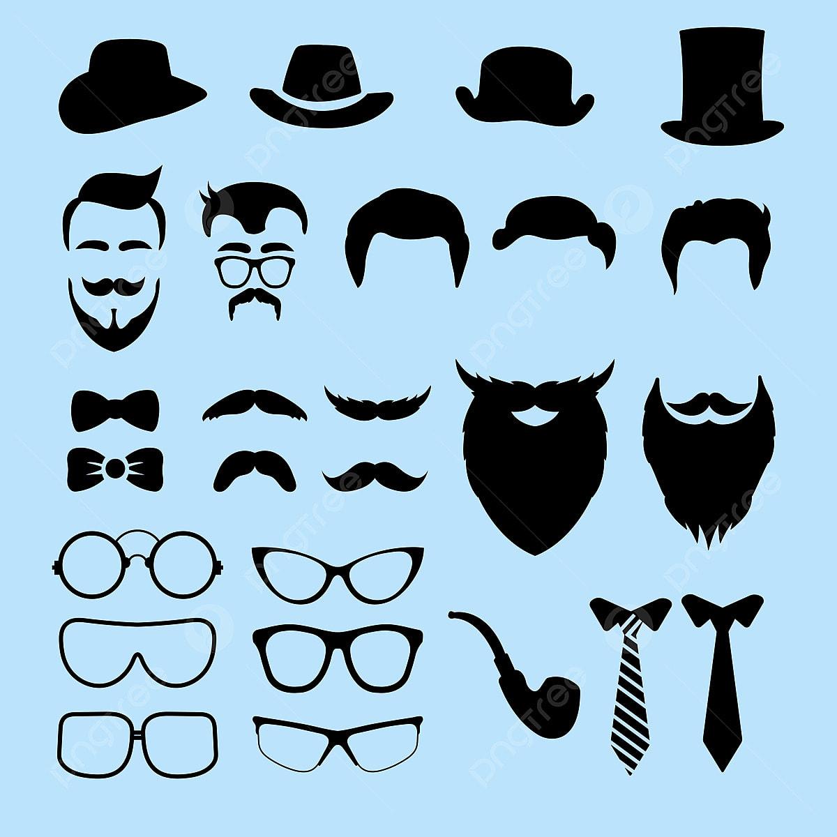 Sensational Set Of Male Hat Mustaches Beard Glasses Styles Caps Hat Schematic Wiring Diagrams Amerangerunnerswayorg