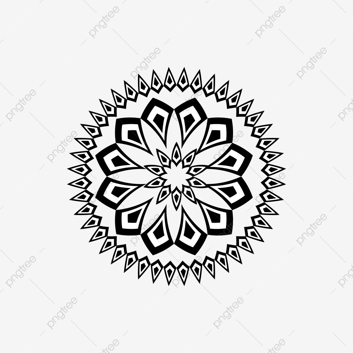 Simple Black Flower Design Leaf Print Sketch Png And Vector With Transparent Background For Free Download