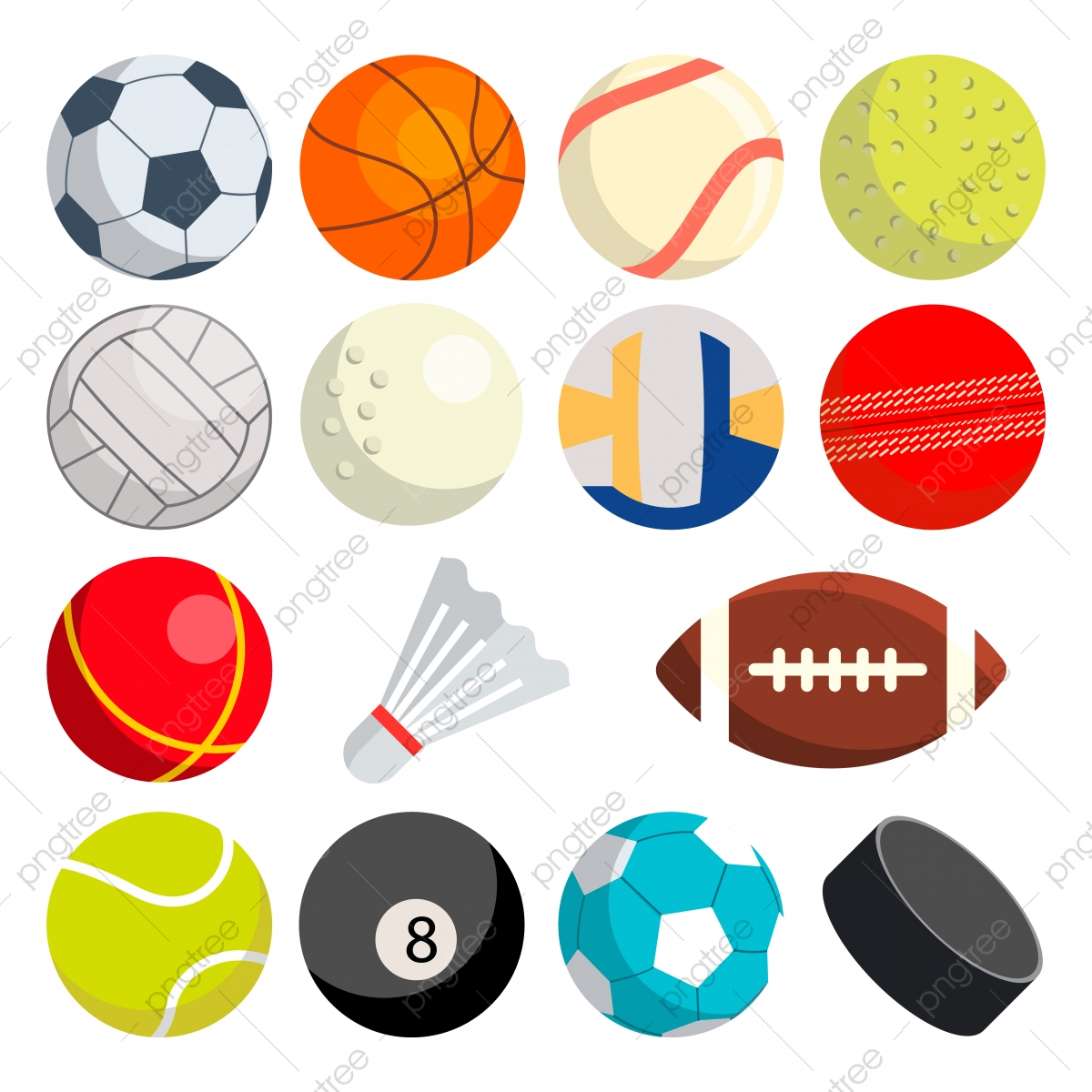 Sport Balls Set Vector Round Sport Equipment Game Classic Balls Gaming Icons Soccer Rugby Baseball Basketball Tennis Puck Volleyball Isolated Illustration Soccer Sport Football Png And Vector With Transparent Background For Free
