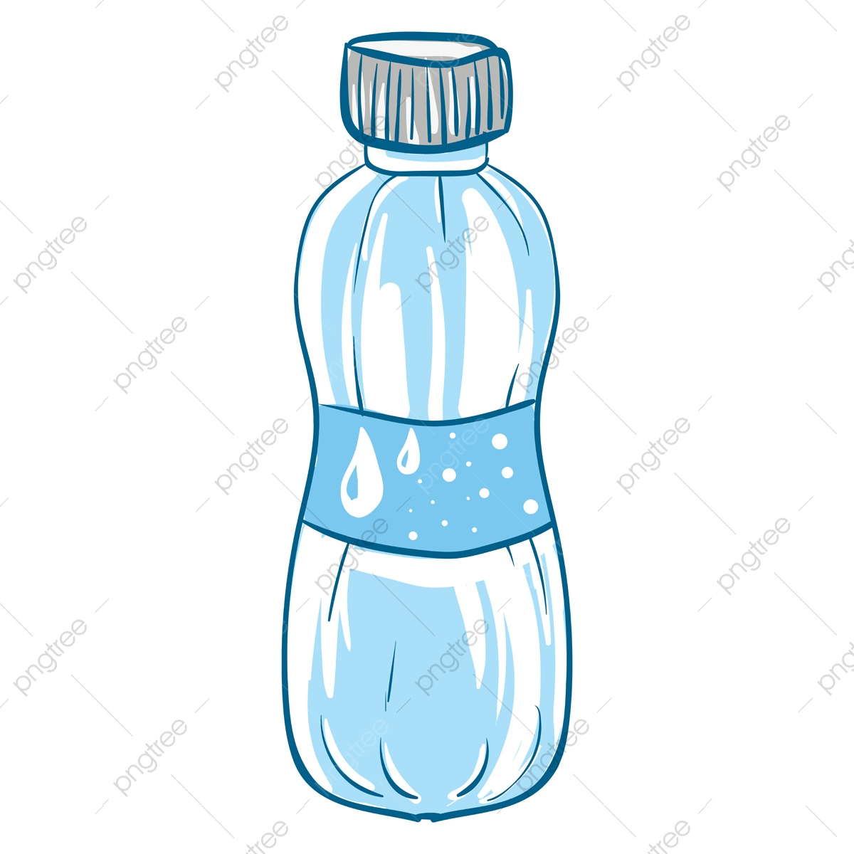 A Blue Disposable Water Bottle Vector Or Color Illustration Refreshment Cartoon Bottle Png And Vector With Transparent Background For Free Download
