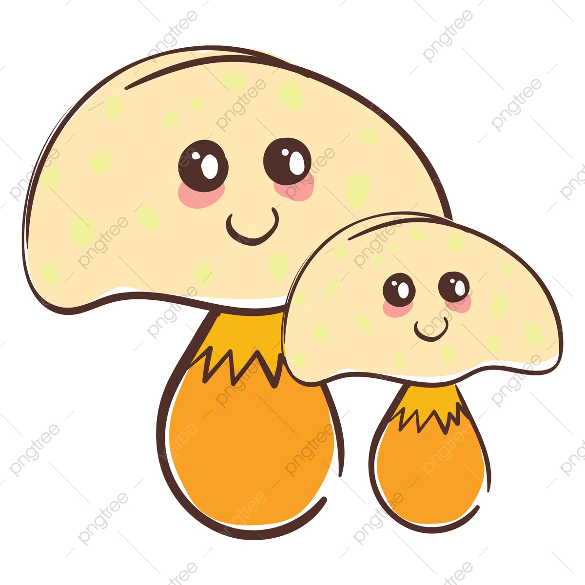 A Cute Mushrooms Vector Or Color Illustration Mushroom Cute