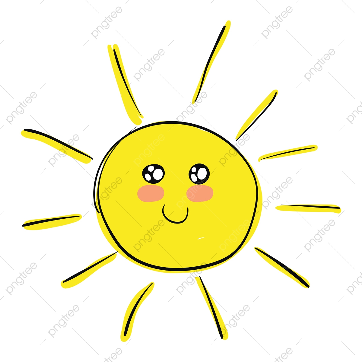 A Happy And Cute Sun Vector Or Color Illustration Sunshine Clipart Sun Cute Png And Vector With Transparent Background For Free Download