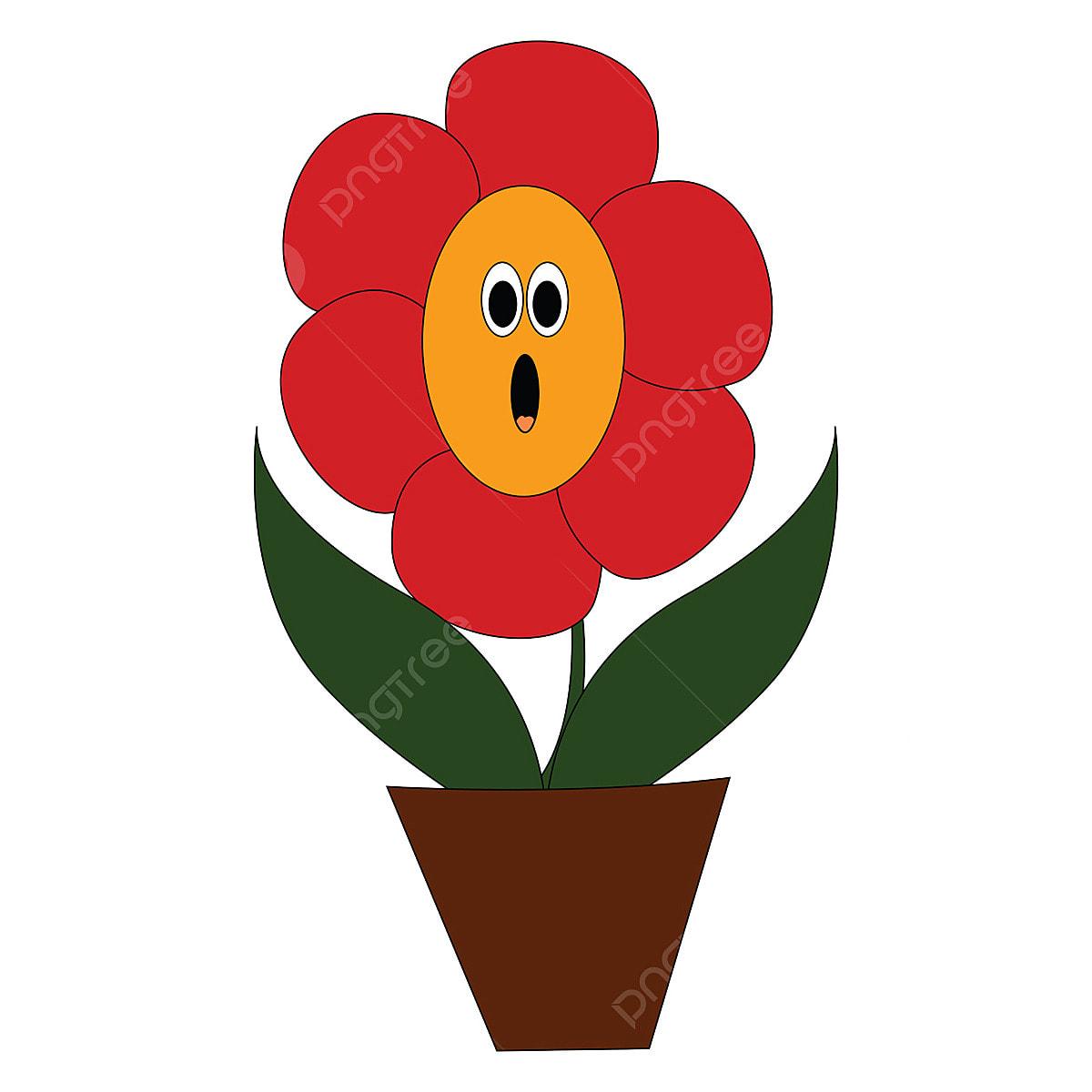 Tiny Red Flower Clip Art