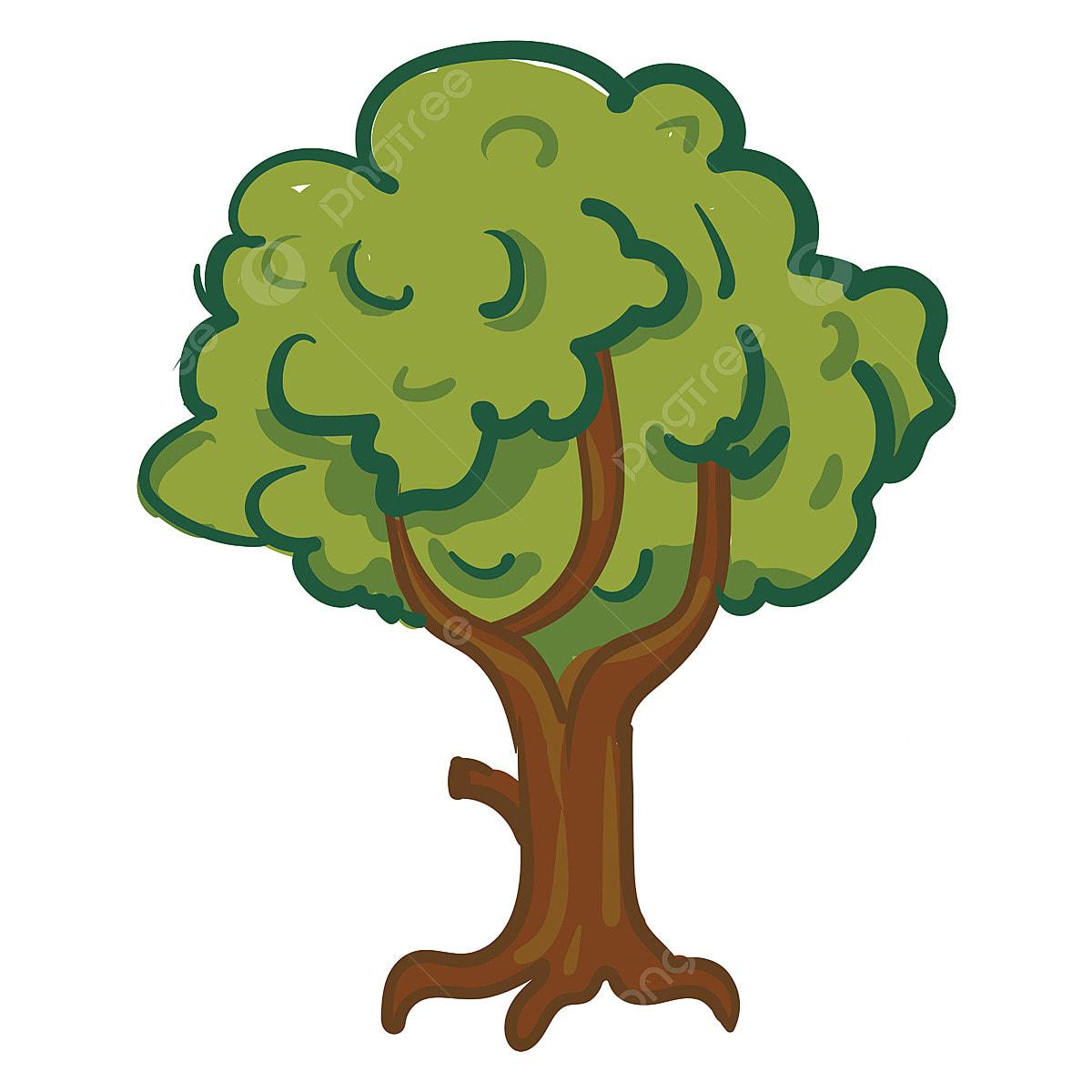 Una Ilustración De Vector O Color De Dibujos Animados De árbol, Hoja,  Maletero, Medio Ambiente PNG y Vector para Descargar Gratis | Pngtree