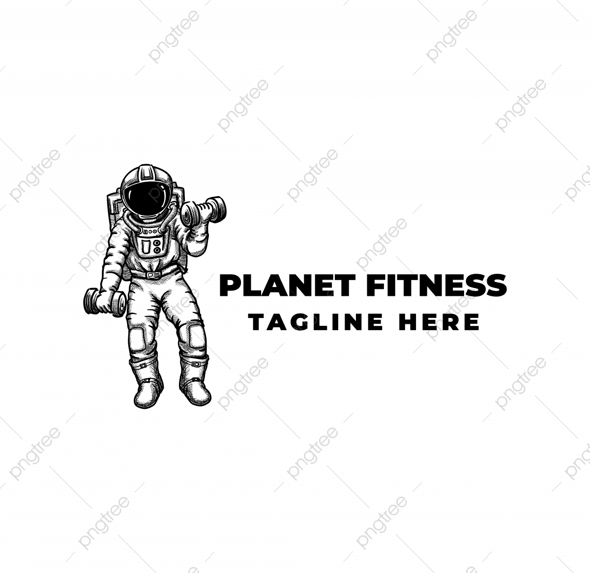 Astronaut Do Workout Logo Fitness And Gym Template Active
